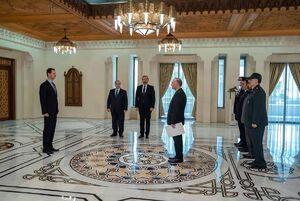 عکس/ دیدار سفیر جدید ایران در سوریه با بشار اسد