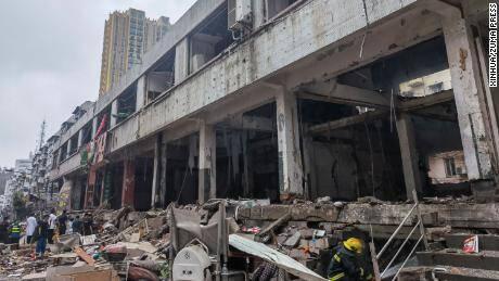 انفجار در یک مجتمع مسکونی در چین/۱۱ کشته و ۱۴۴ مجروح