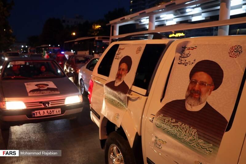کارناوال خودروئی حامیان سیدابراهیم رئیسی