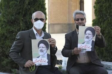 عکس/ گردهمایی بزرگ حامیان رئیسی در اردبیل