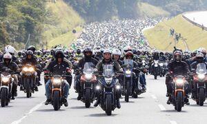 رئیس جمهور برزیل در تجمع بزرگ موتورسیکلت سواران