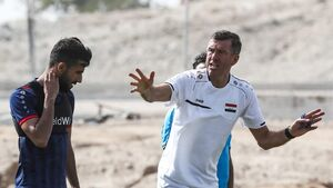 کری خوانی بشار رسن قبل از بازی با ایران
