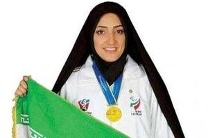 پرچمدار کاروان ایران در پارالمپیک مدال طلایش را به «رئیسی» اهدا کرد