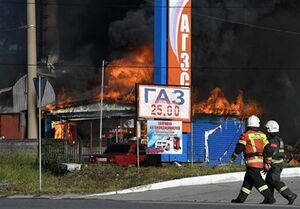 آتشسوزی در یک پمپ بنزین در روسیه ۳۳ مجروح برجای گذاشت+فیلم