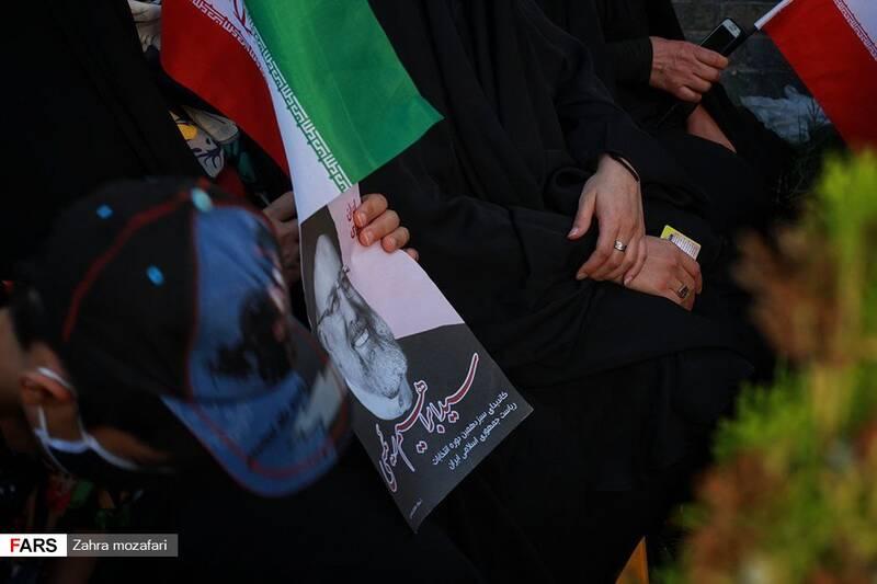 تصاویری از تجمع حامیان رئیسی در ایلام