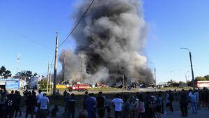 عکس/ انفجار پمپ بنزین در روسیه