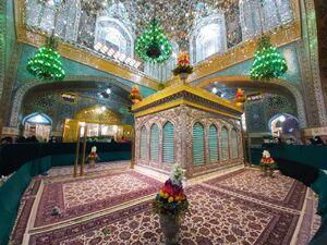 تصویری زیبا از مضجع نورانی امام رضا(ع)
