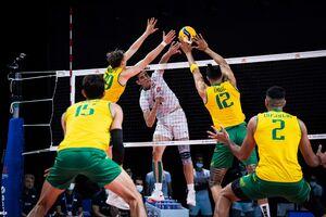 عکس/ شکست عجیب والیبال ایران مقابل استرالیا