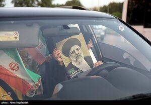 کاروان خودرویی تبلیغات انتخاباتی در مشهد