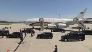 عکس/ فرود هواپیما پوتین در ژنو