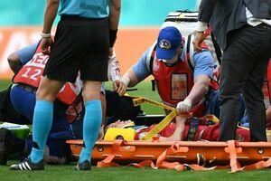 فیلم/ یک قربانی دیگر در دیدار با فنلاند؛ قفسه سینه بازیکن روس شکست!