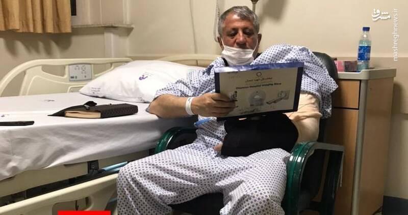 عکس/ بستری شدن محسن هاشمی در بیمارستان
