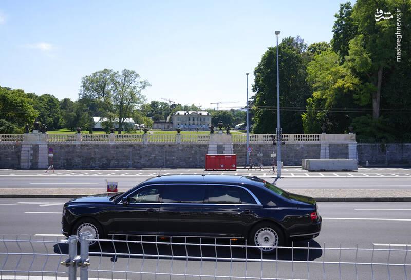 عکس/ خودرو پوتین در سفر به سوئیس
