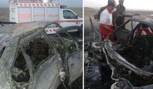 عکس/ حادثه خونین در جاده سراوان به خاش