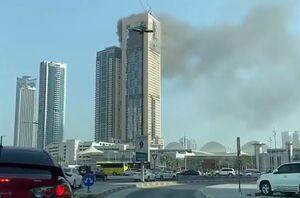 فیلم/ آتشسوزی در برجی در «شارجه» امارات
