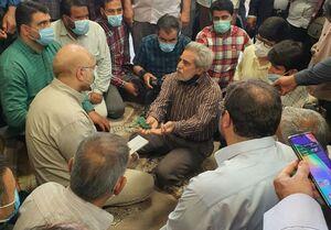 گفتگوی قالیباف با مردم در مسجد امام علی(ع) در پردیس