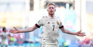 بلژیک با درخشش دبروینه بازی باخته مقابل دانمارک را برد