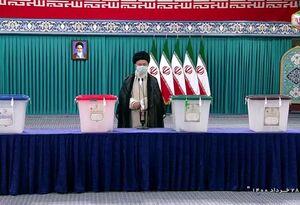 عکس/  رهبر انقلاب رای خود را به صندوق انداخت