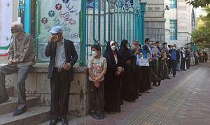 عکس/ حضور رای دهندگان در مقابل حسینیه ارشاد