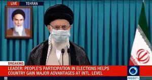 پخش زنده سخنان رهبرانقلاب در پای صندوق رای از شبکه های ماهواره ای
