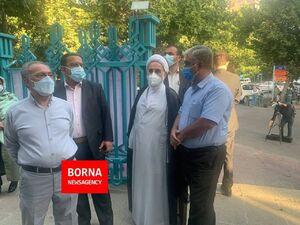 عکس/ حضور ناطق نوری در حسینیه ارشاد