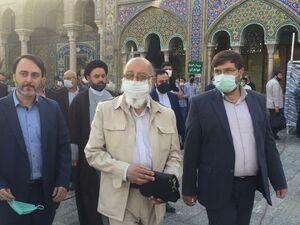 عکس/ حضور مهدی چمران در پای صندوق رای