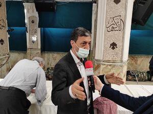 حضور پرویز فتاح رئیس بنیاد مستضعفان در امامزاده علی اکبر چیذر