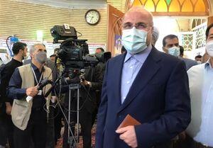 قالیباف با حضور در مسجد ابوذر تهران رای خود را به صندوق انداخت