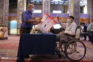 جشن انتخابات در یزد