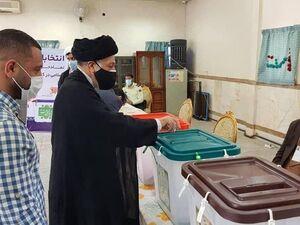 سید هادی خامنهای پای صندوق رای