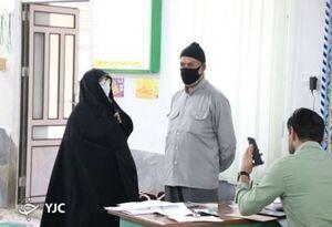 حضور والدین مصی علی نژاد در انتخابات