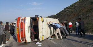واژگونی مینیبوس حامل صندوق سیار انتخابات در دیواندره/یک فوتی و ۶ زخمی زخمی شدند