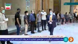 فیلم/صف بیپایان رای دهندگان در مسجد امام حسین(ع) تهران
