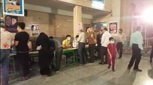 تصاویری از حضور رأی دهندگان در مسجدالرسول تهران