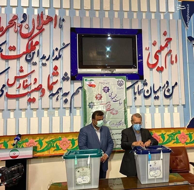 علی لاریجانی در استان مازندران رای داد