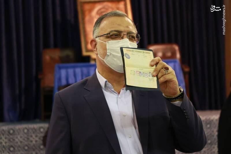 زاکانی در حسینیه جماران رأی خود را به صندوق انداخت +عکس