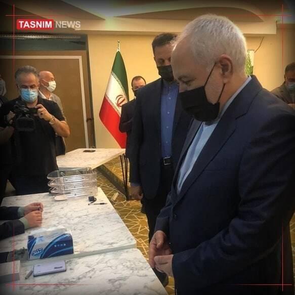 ظریف در آنتالیا رای داد +عکس
