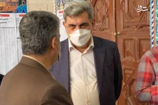 حضور حناچی شهردار تهران در انتخابات