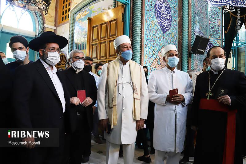 حضور اقلیتهای دینی در حسینیه ارشاد برای رایدادن