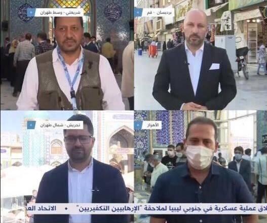 پوشش کامل اخبار انتخابات ایران توسط شبکه العربی قطر +عکس