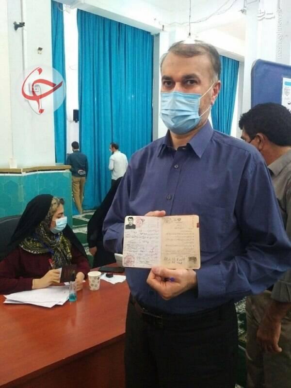 رای دادن حسین امیرعبداللهیان در انتخابات