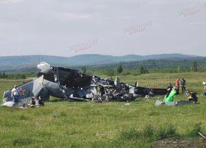 عکس/ سقوط مرگبار هواپیما در «سیبری» روسیه