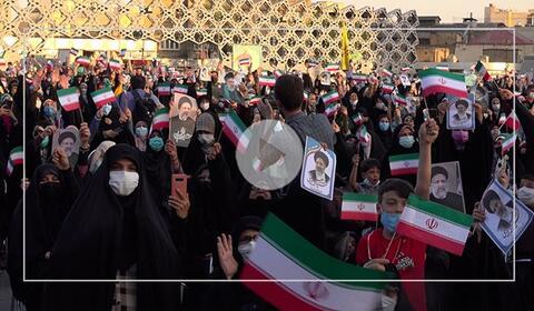 فیلم/ جشن طرفداران رئیسی در تهران