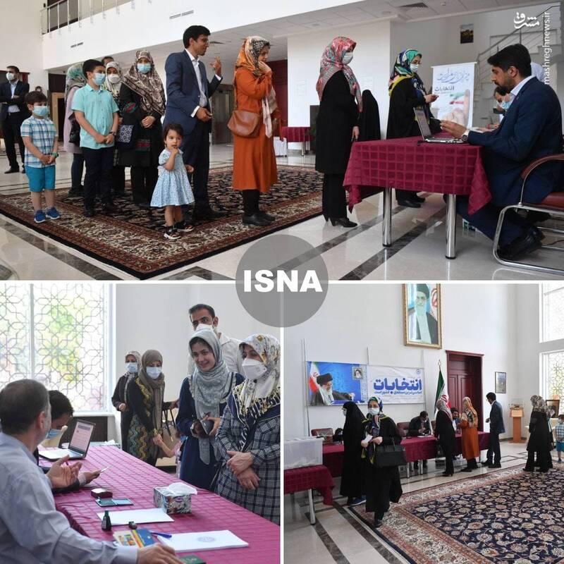 عکس/ رای گیری در سفارت ایران در بلاروس
