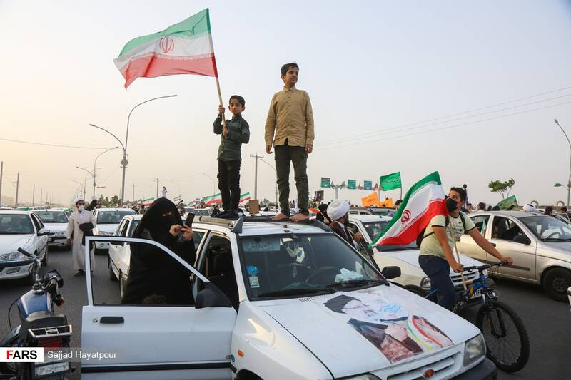 جشن انتخابات آیت الله رئیسی در قم