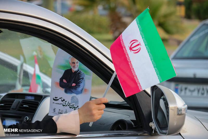 کاروان خودرویی جشن پیروزی ریاست جمهوری آیت الله سید ابراهیم رئیسی در سمنان