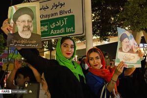 عکس/ جشن پیروزی رئیسی در خیابانهای مشهد