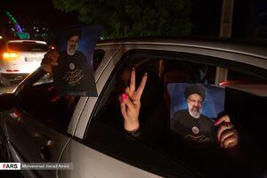 عکس/ جشن قزوینیها پس از پیروزی رییسی