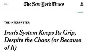 تعجب نیویورک تایمز از حضور مردم در انتخابات ایران