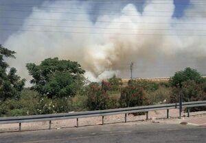 آتش سوزی حرکت قطارهای اسرائیل را متوقف کرد